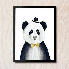 Posters For Living Room by China U0027s National Treasure Panda Canvas Painting Wall Art Picture