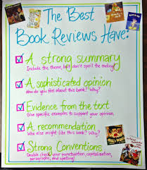 4th grade book report sample understanding audience writing book reviews scholastic chart of book review noticings charted rubric for book reviews