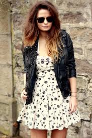 i really like the leather jacket with the dress just something