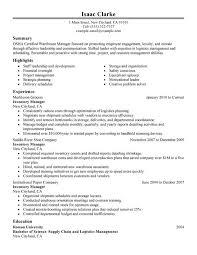 Logistics Responsibilities Resume Download Inventory Manager Job Description Haadyaooverbayresort Com
