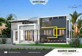 Sq Ft  Bedroom Modern House Design - Two bedroom house design