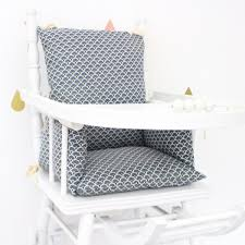 coussin chaise haute bebe coussin chaise haute ethnique bleu marine en coton enduit pour bébé