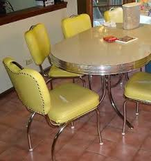 50 s diner table and chairs retro 50 s style chrome dinette table 6 chairs w leaf
