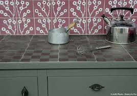 plan de travail cuisine carrelé carrelage plan travail cuisine 35 peinture effet beton pour
