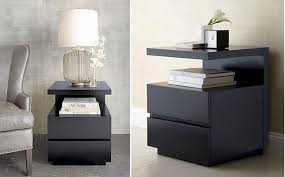Modern Black Nightstands Modern Black Nightstand Appealing Black Nightstand With