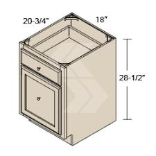 3 Drawer Base Cabinet Ofdb18 Shaker Ii Maple Bright White Office File Drawer Base