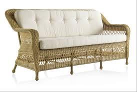 canape resine exterieur canapé de jardin 3 places en résine tressée miel brin d ouest