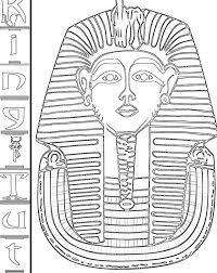 king tut golden mask ancient egypt colouring king tut