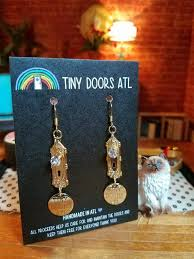 new new earrings atl tiny doorknob earrings knob and st tiny doors atl