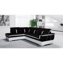 canapé d angle noir et blanc pas cher canapés d angle achat canapés d angle pas cher rue du commerce
