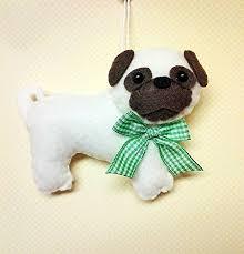 felt pug ornament getpuggedup pug shop
