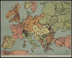 World Map Showing Netherlands by Satirical Map Of World War I In Europe U201chet Gekkenhuis U201d By Dutch