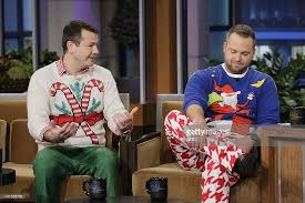 Images Of Ugly Christmas Sweater Parties - the tonight show with jay leno pictures getty images