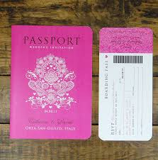 wedding invitations canada passport to booklet travel wedding invitation images