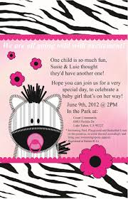 baby shower sports invitations zebra baby shower invitations theruntime com