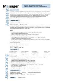 Resume Template Restaurant Restaurant Assistant Manager Resume Templates Cv Example Job