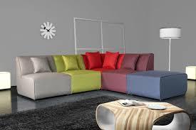 canapes modulables tissus canapé d angle modulable contemporain en tissu multicolore oracio