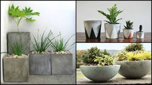 How To Make Planters by How To Make Your Own Concrete Planter