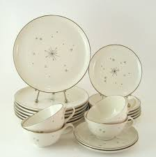 vintage dinnerware set syracuse china evening star mid century