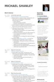 College Lecturer Resume Sample by University Resume Samples Visualcv Resume Samples Database