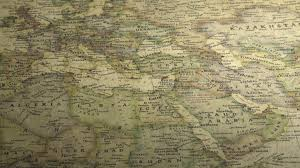 Vintage Maps Panning Across The Uk On A Vintage Map Free Stock Video Footage