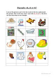 11 free esl digraphs worksheets