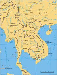 Southeastern Asia Map by Mekong River Region