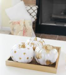 At Home Com by Gold U0026 White Painted Pumpkins Three Different Ways U2013 At Home