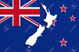 New Zeland Flag 3d Rendering Of A New Zealand Map And Flag Stock Photo Picture