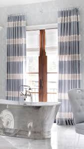 White And Blue Striped Curtains Blue Striped Curtains On Doors Cast Iron Bathtub