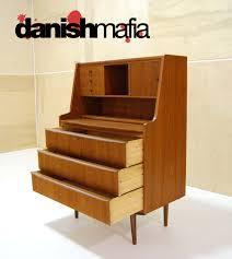 Small Secretary Desk by Mid Century Danish Teak Secretary Desk Vanity Dresser Danish Mafia