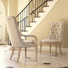 upholstered arm chair with upholstered tufted back u0026 scroll arms