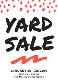 yard sale flyer templates canva