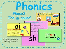 phonics phase 3 the u0027ai u0027 sound by blossomingminds teaching