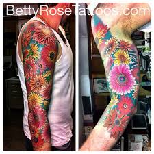 gerber daisy sleeve tattoo design photo 2 photo pictures and