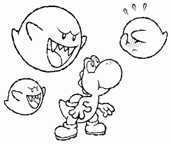 mario yoshi coloring pages print coloring