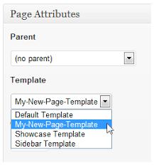 create a custom page template in wordpress