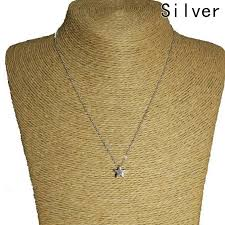 necklace with simple pendant images Fashion new simple cute gold silver plated star necklace pendant jpg