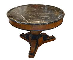 charles x style table with black marble top philosophy antiques