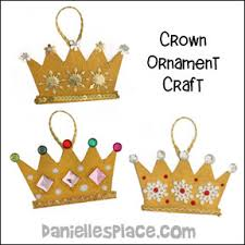 crown ornmament craft for bible lesson the