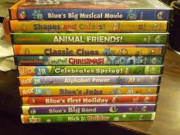 11 blue u0027s clues childrens dvd lot shapes colors 3 holiday
