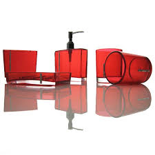 Bathroom Accessories Sets Red Bathroom Accessories Sets New Interiors Design For Your Home