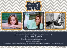 what to put on graduation announcements chevron block graduation announcement graduation invitation
