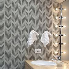 Decorative Wall Stencils Wall Stencil Patterns Large Pattern Repeat Wall Stencil Available