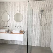 Modern Bathroom Floor Modern Scandinavian Bathroom White Hexagon Sheets And Slate