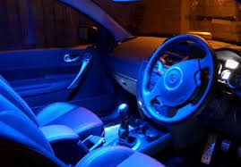 blue light on car vic led lighting interior and exterior