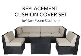 Cushion Covers For Patio Furniture Complete Replacement Cushion Covers