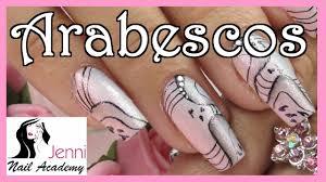 nail art unhas decoradas com arabescos youtube