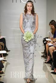 all of the details on piper perabo u0027s silver wedding dress and