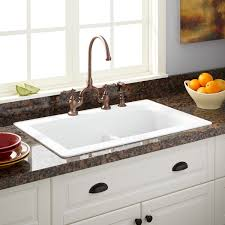 White Granite Kitchen Sink 33 Fayette Bowl Drop In Granite Composite Sink Eggshell